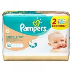 PAMPERS servetele Natural Clean 2x64 buc