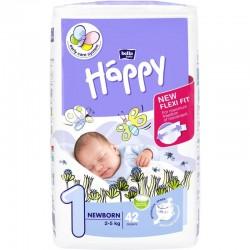 Scutece Happy nou nascuti Nr 1 (2-5kg) 42buc