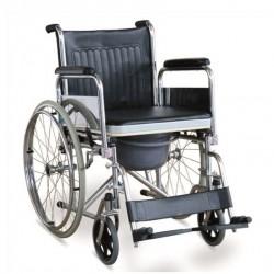 Scaun cu rotile cu WC inclus, pliabil, cu roti din cauciuc plin TFW681