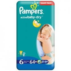 Scutece Pampers Active Baby Nr 6 64buc