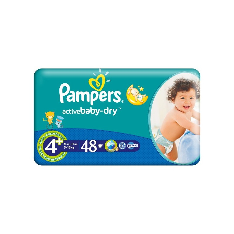 Scutece Pampers Active Baby Maxi Plus Nr 4+ 48buc