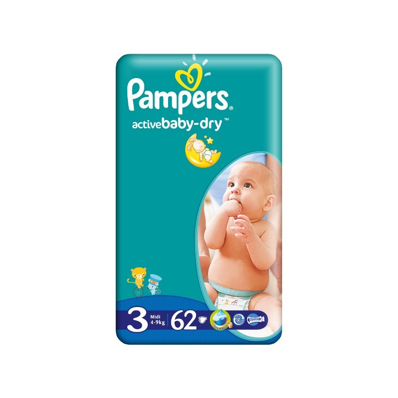 Scutece Pampers Active Baby Midi Nr 3 62buc