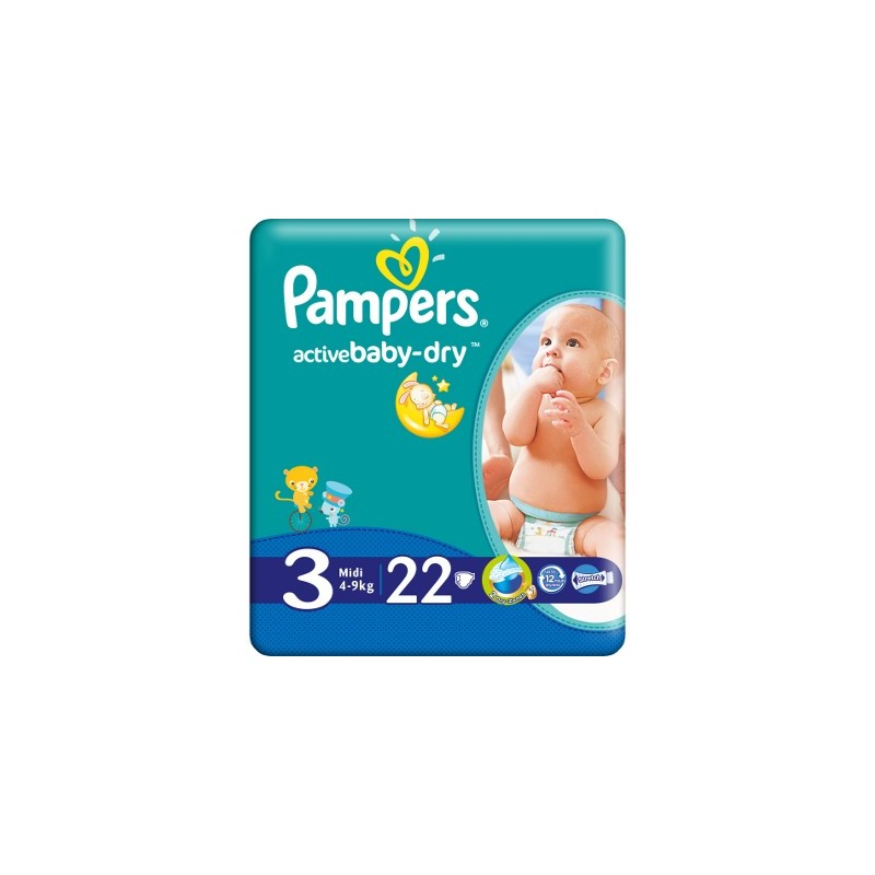 Active Baby Midi Pampers Nr 3 22buc